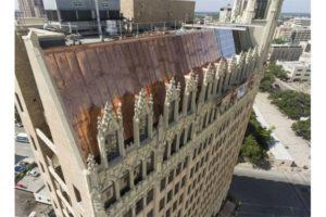 Industrial Copper Metal ReRoof On Emily Morgan Hotel