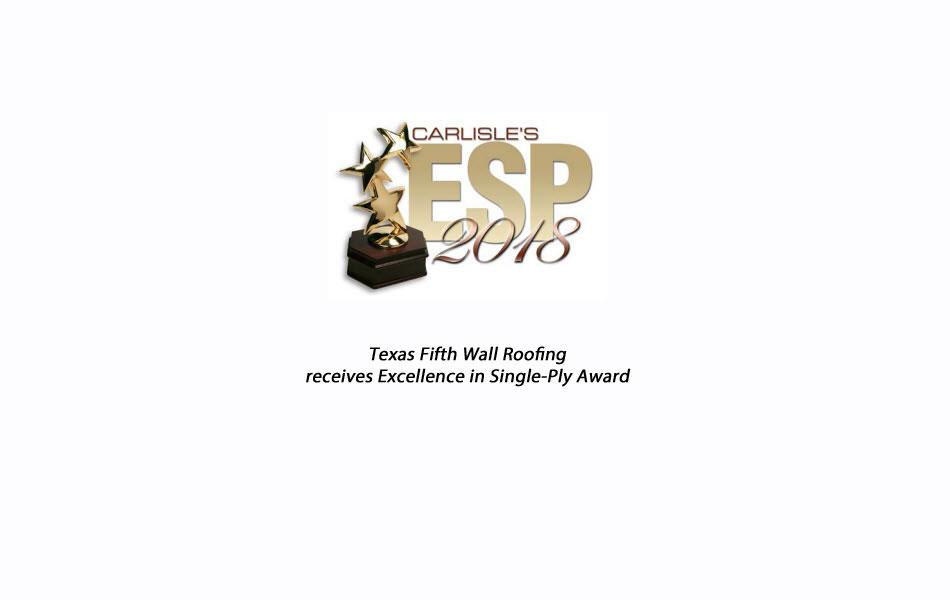 Carlisle SynTec Excellence in Single Ply Award 2018