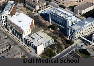 Dell Medical School Arial View  Of Completed Commercial Roof