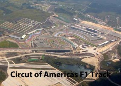Arial View Of Completed COA F1 Track - Central Texas