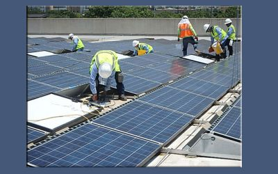 Texas Fifth Wall Roofing Installing OMG PowerGrips™ To Secure A Solar Panel System